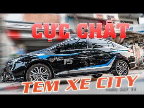 [Tổng Hợp] Bộ Sưu Tập Decal Tem Xe Honda City Cực Chất Tại Decaldubai
