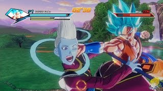 Dragon Ball Xenoverse (PS4) : SSGSS Goku [DLC] Vs Whis Gameplay【60FPS 1080P】