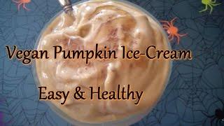Vegan Pumpkin Ice-cream