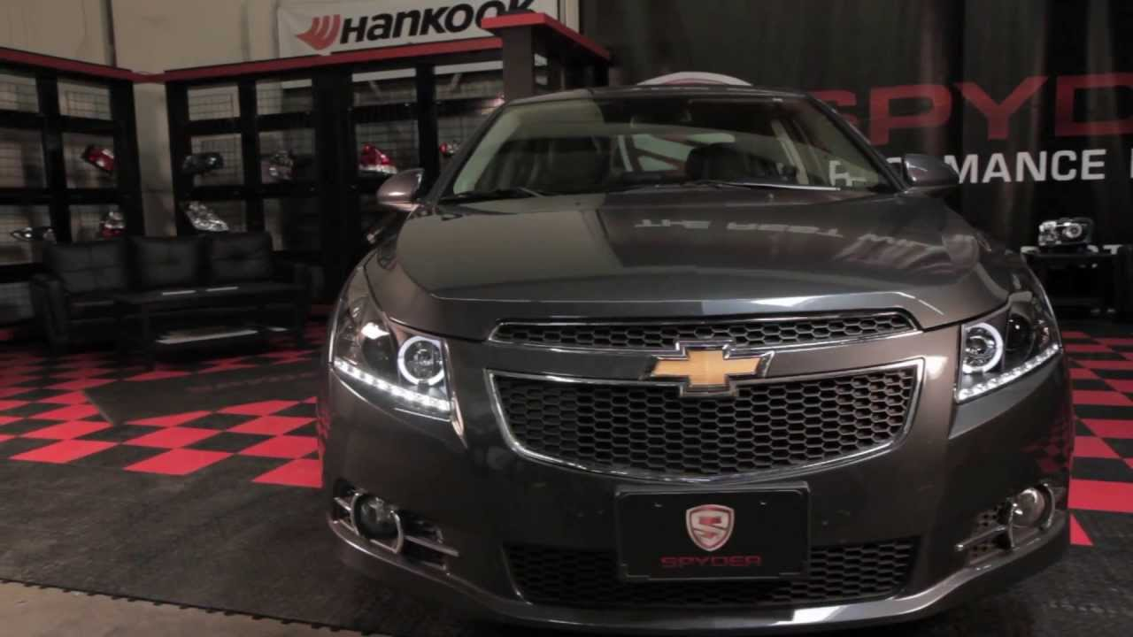 spyder auto installation 2011 13 chevrolet cruze projector headlights youtube [ 1280 x 720 Pixel ]