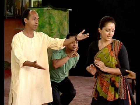 Manju Warrier as shakunthala in Kavalam's shakunthalam drama