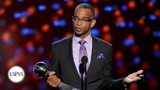 In 2014, Stuart Scott won the Jimmy V Award for Perseverance for his courageous fight against cancer. Watch ESPN on YouTube TV: http://ow.ly/1YWF30aFCi3 ...