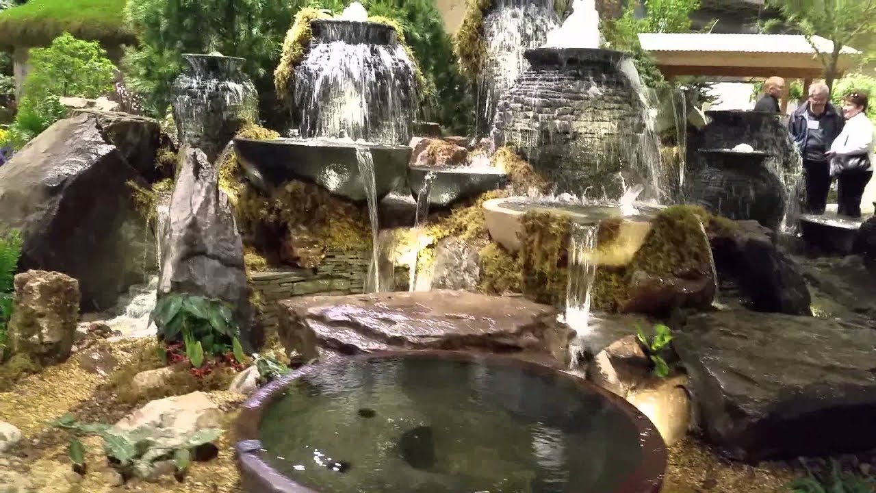 2015 Aquascape Display at Chicago Flower Show - YouTube