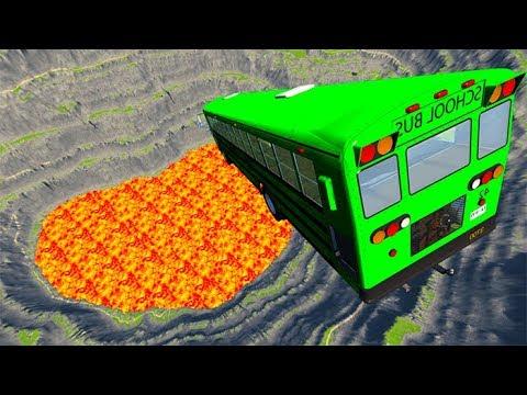 Random School Bus Crashes - Beamng drive