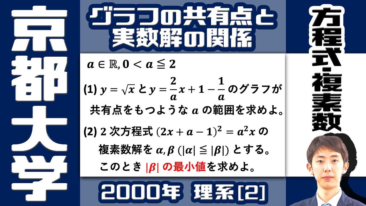 【京大2000】二次方程式の複素数解の大きさ【方程式・複素数】