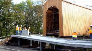 Moving The Historic Chambers Covered Bridge