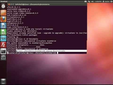 Django Tutorial -- Linux Setup (3 of 3): Virutalenv    Coding for Entrepreneurs