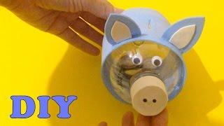 Do Lixo ao Luxo : Cofrinho Porquinho com Garrafa Pet