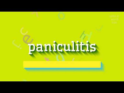 "How to say ""paniculitis""! (High Quality Voices)"