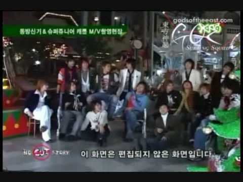dbsk and super junior- Making of show me your love part 1/3