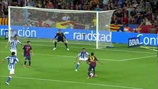 FC Barcelona - Real Sociedad (5-1) Resumen (19/08/12) J1