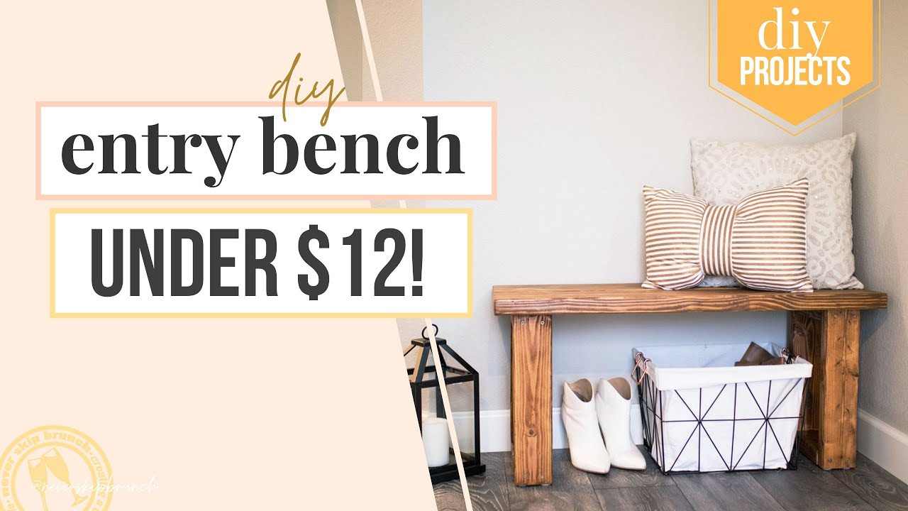 Make This Gorgeous Entryway Bench Diy For Under 12 Youtube