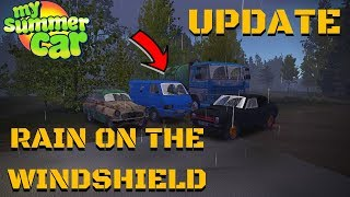 RAIN ON THE WINDSHIELDS - DRIVING ANIMATIONS - My Summer Car Update #135