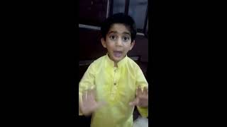 Funny Pakistani kid copying his mom arguing with polio worker.polio vaccination comedy clip