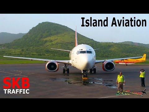 Island Aviation !!! Swift Air 737-300, Lynden L-100, American 738...@ St. Kitts Airport (Multi View)