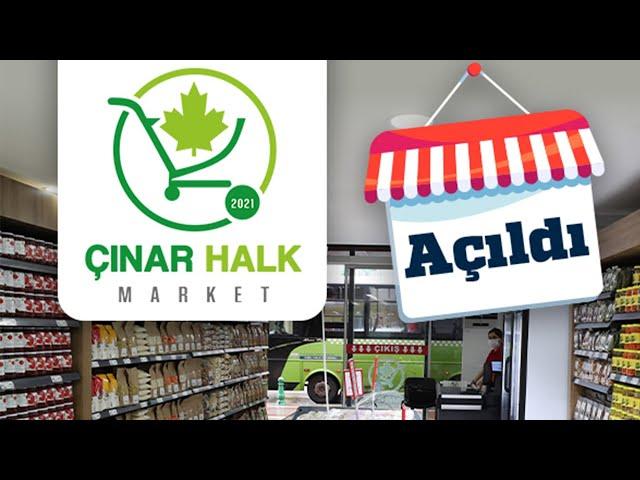 Çınar Halk Market, hizmete açıldı!