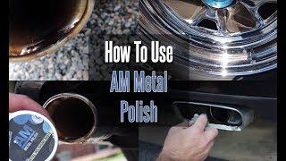 How To Use A Metal Polish / AM Metal Polish  #Metalpolish #howtopolishchrome #Detailingtips