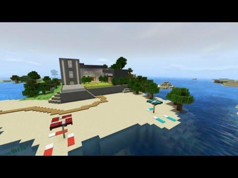 minecraft pocket edition Beachside Villa map