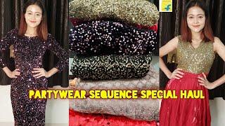 Flipkart Partywear SEQUENCE Special Haul Online Sequence Gown Dress Saree Lehenga FlipkartHaul