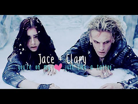 Jace+Clary; you're on my heart just like a tattoo (happy ...