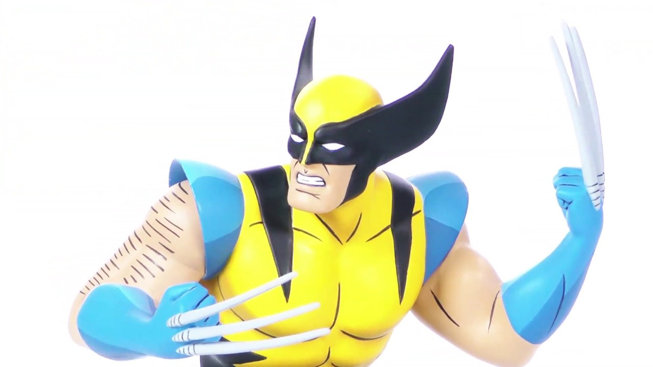 Marvel Animated X-Men Wolverine Bust 360 View