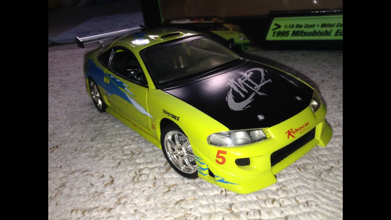 fast and furious die cast mitsubishi eclipse ertl youtube. Black Bedroom Furniture Sets. Home Design Ideas