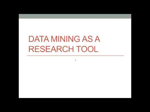 Data Mining As A Healthcare Research Tool (Analytics Techniques Listed Below)