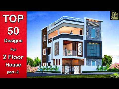 top-50-modern-elevation-designs-for-double-floor-house-|-2-floor-house-elevation-india