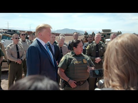 President Trump Visits the Border Wall in Calexico, California