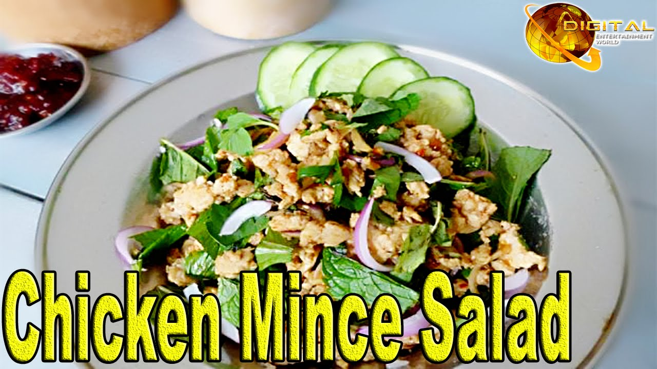 Chicken Minced Salad Cooking Recipes Desi Continental Recipes Hd Video