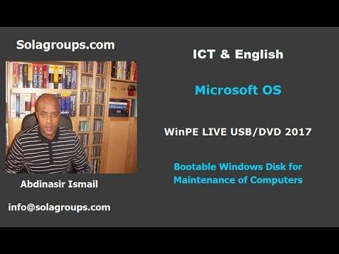 WinPE Live USB/DVD 2017