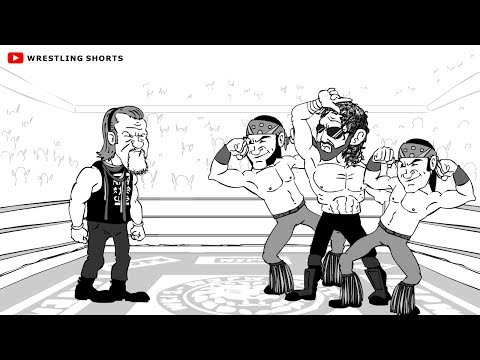 Chris Jericho vs Kenny Omega Wrestle Kingdom 12 Cartoon Parody