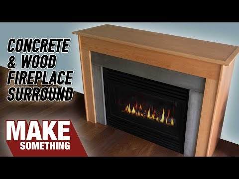 How to Make a Fireplace Surround with Concrete & Wood