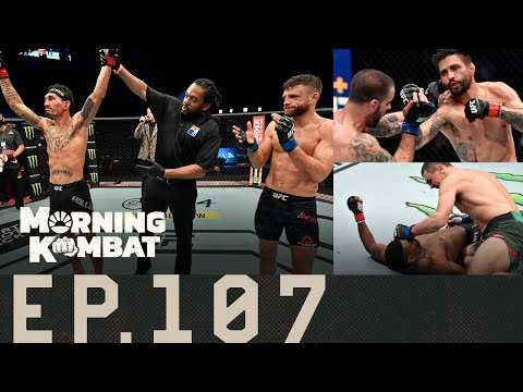 Max Holloway Dominates Calvin Kattar | Khabib | Stipe vs. Ngannou | Morning Kombat Ep. 107