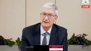 Apple CEO Tim Cook delivers his opening statement to Congress