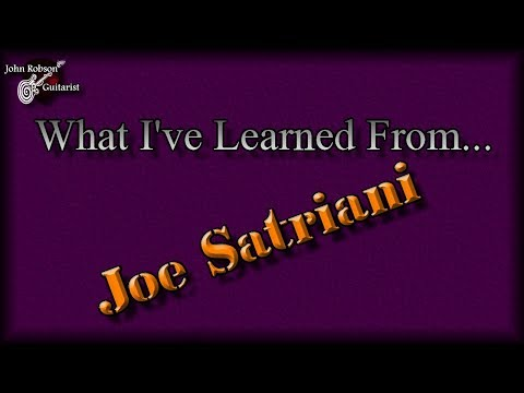 What I've Learned From... Joe Satriani