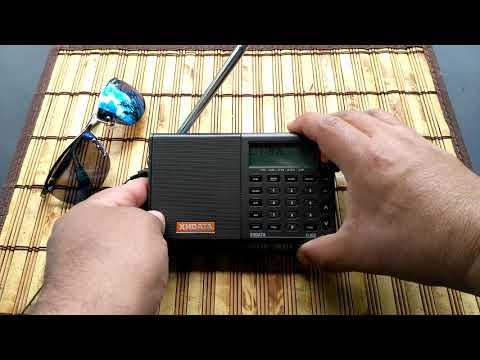 XHDATA D-808 LW/MW/FM/SW/SSB/Airband Radio - Shortwave Broadcast Of Radio Romania @ 11975 KHz
