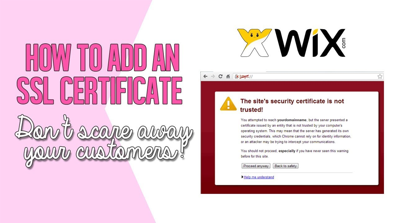 How To Add An Ssl Certificate In Wix Websites Youtube
