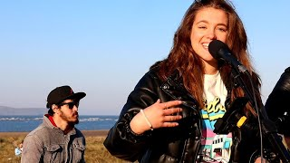 INCREDIBLE BEACH PERFORMANCE | Taylor Swift - Love Story | Allie Sherlock, Saibh Skelly & Band cover