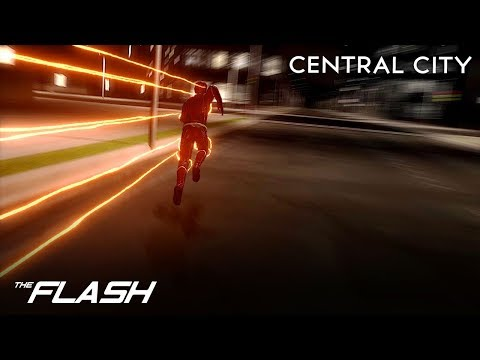CW The Flash 3D Central City Small Animation Test | Cinema 4