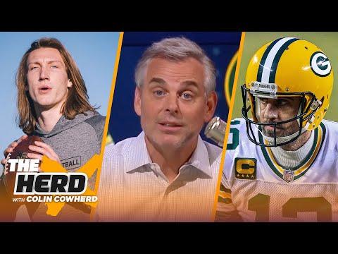 Colin Cowherd chooses Winners in 2021 NFL Draft, talks Aaron Rodgers & Jordan Love   NFL   THE HERD
