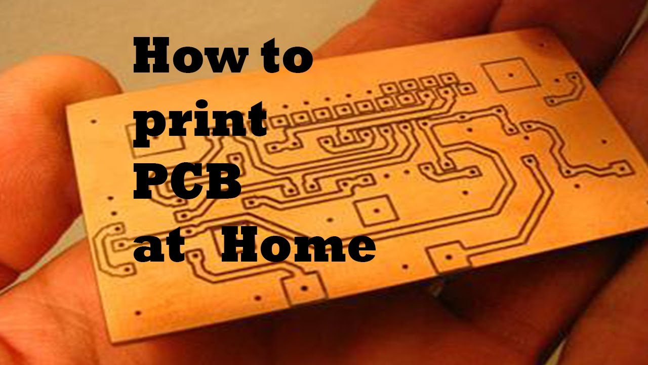 How to print PCB at home | Part 3 - YouTube