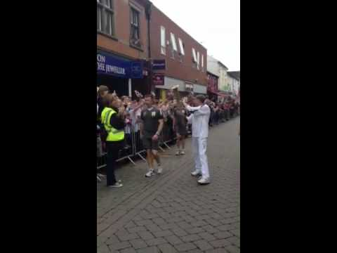 Loughborough town Center Olympic torch 212