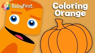 Oranges, Pumpkins sand Carrots | Orange | Learn the Colors | Color Crew | BabyFirstTV