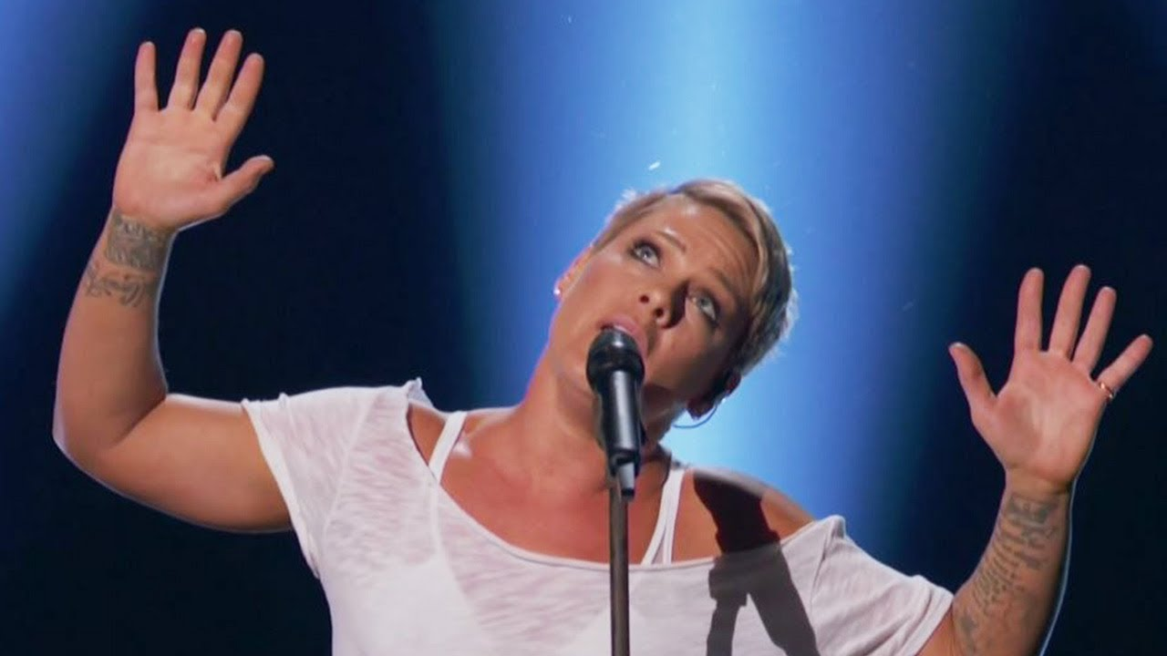"""Download Pink Delivers TIMELY """"Wild Hearts Can't Be Broken"""" Performance At 2018 Grammys"""