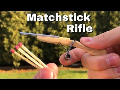 DIY Miniature Rifle - How to Make a Mini Matchstick Gun