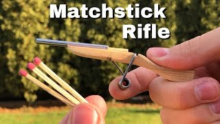 DIY Miniature Rifle - How to Make a Mini Matchstick Gun