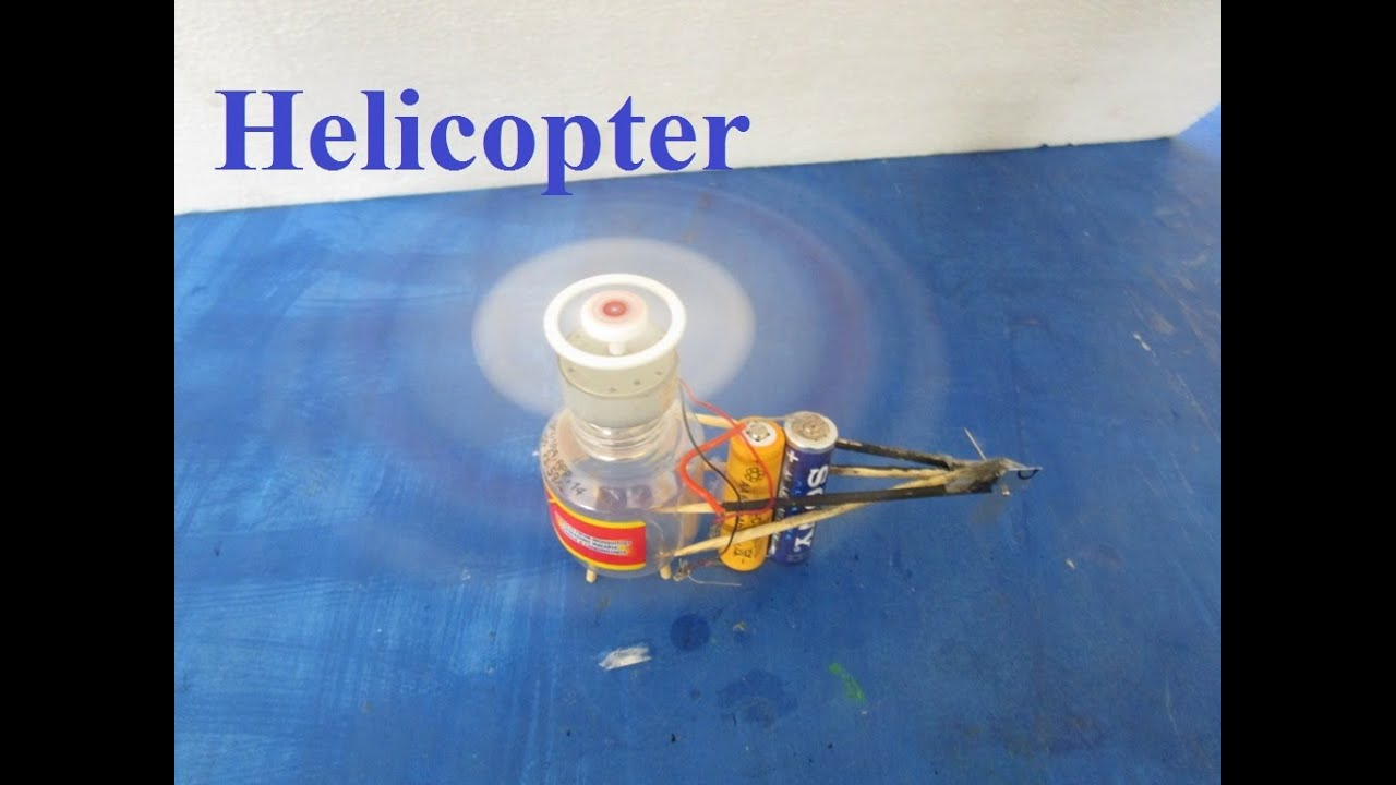 How To Make A Toy Helicopter With Motor At Home ...