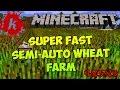 Minecraft | Super-fast Compact Semi-Automatic Wheat/Potato/Carrot Farm [4x5x3] | [1.7]