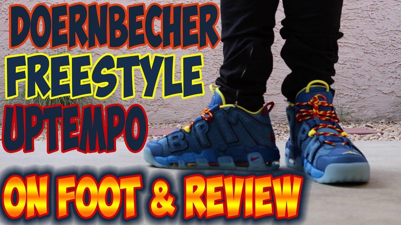 Doernbecher Freestyle Uptempo On Foot   Review - YouTube a6554e02cbd3